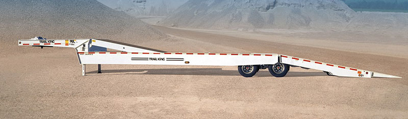 Fold-Away Hydraulic Beaver Tail Trailer
