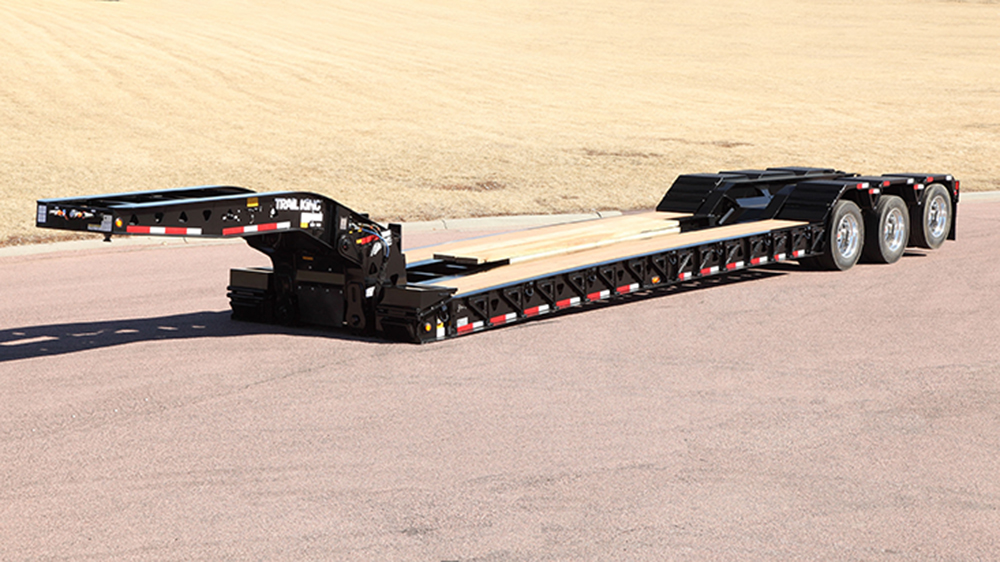 trail king mechanical removable gooseneck trailer